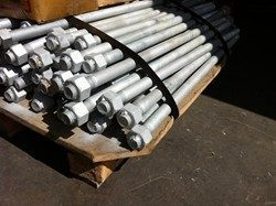 Galvanized F1554 anchor bolts