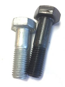 Plain Finish 5L 1-1//8-7 Steel Structural Bolt with Nut 105 PK A325 Type 1
